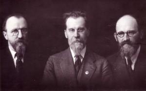 Viktoras, Mykolas ir Vaclovas Biržiškos, apie 1934 m.