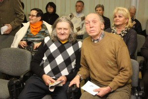 Iš kairės: fotografo K.Bužoko sūnus Konstantinas Bužokas