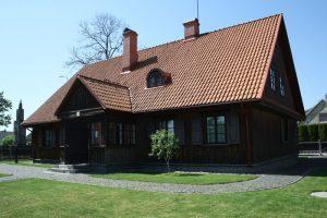 Biržiškų šeimos namas, kuriame įsikūrusi biblioteka ir Profesorių M. V. V. Biržiškų ekspozicija